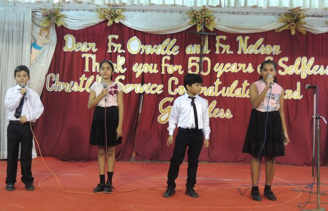 GOLDEN JUBILEE CELEBRATION WITH STUDENTS (PRIMARY SECTION)